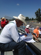 betting strategy at the Millarville Races - photo - Karen Anderson