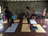 yoga in Mahamallapuram - photo - Karen Anderson