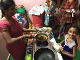 cooking with my friend Julie in Tamilnadu - photo - Karen Anderson