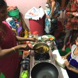 cooking with my friend Julie in Tamilnadu - photo - Karen Anderson