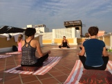 yoga with JoJo - Pondicherry - photo - Karen Anderson