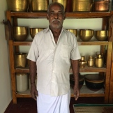 Kruppiah - cooking in Chettinad for over 50 years - photo - Karen Anderson