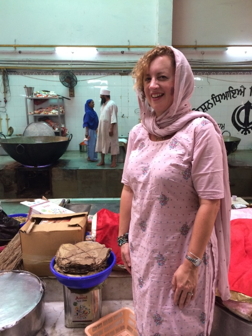 at a Sikh Langar (free food kitchen for all regardless of background) in Delhi - photo - Pauli-Ann Carriere