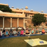 yoga at Fateh Garh - photo - Karen Anderson