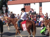 Mayor Nenshi on his annual horse ride at the Calgary Stampede Parade - Karen Anderson