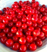 cherries are ready for Canada Day - photo - Karen Anderson