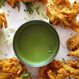 pakoras and Indian snacks are a highlight of every trip - photo - Karen Anderson