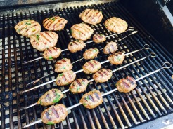 Shish kababs and Shish ka-burgers - photo - Karen Anderson