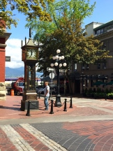 Vancouver's Gastown famous clockworks - photo - Karen Anderson
