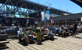 Morning coffee time on the docks at Granville Island - photo - Karen Anderson