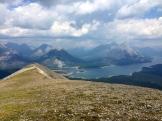 View of Spray Lakes from Tent Ridge Hike in Kananaskis, Alberta - photo - Karen Anderson