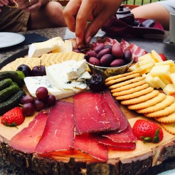 Alberta cured meat platter at Mount Engadine Lodge - photo - Karen Anderson
