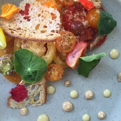 from the garden at Rouge Restaurant - photo credit - Karen Anderson