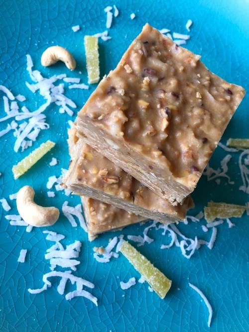 Coconut Cashew Granola Fudge Bars - photo - Karen Anderson
