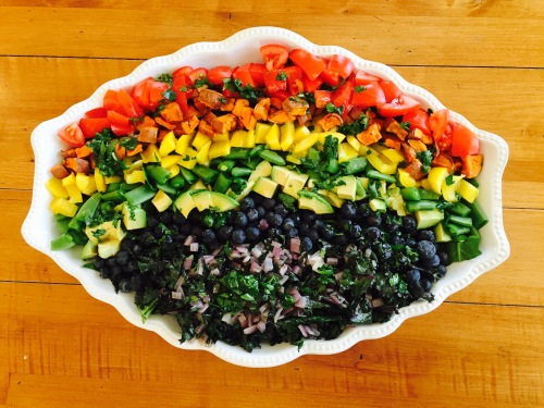 Chopped vegetable salad - photo credit - Karen Anderson