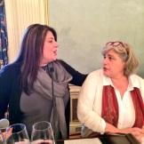 Connie Gianncoulis talking with Marinella Camerani of Corte Sant'Alda of Veneto - photo credit - Karen Anderson