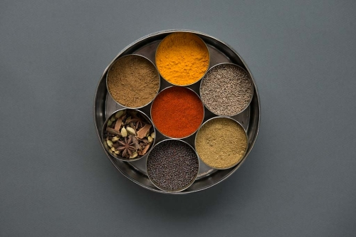 Turmeric in my masala daba spice box - photo credit - Karen Anderson