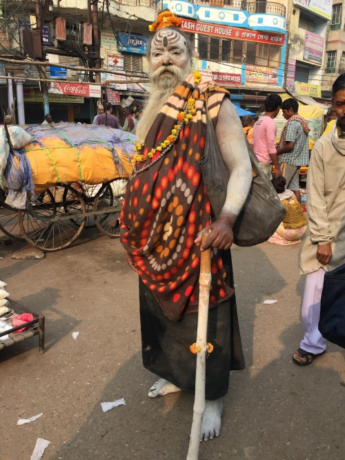 pilgrim in Varanasi - photo credit - Karen Anderson