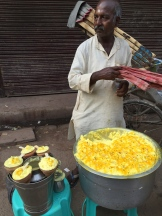 Snack walla in Varanasi - photo credit - Karen Anderson