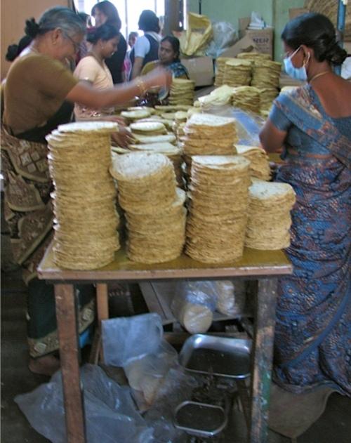 poppadum factory, Cochin, Kerala, India - @savouritall blog