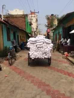 Homespun cotton in India - photo credit - Karen Anderson