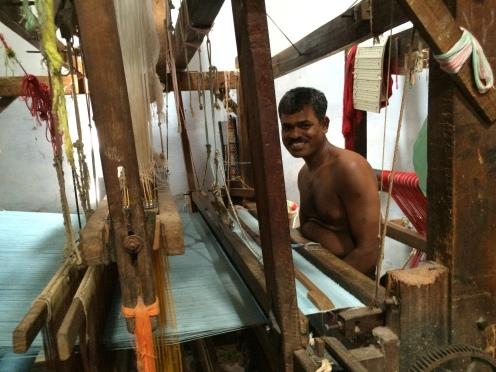 Weaver in Madurai, India - photo credit - Karen Anderson