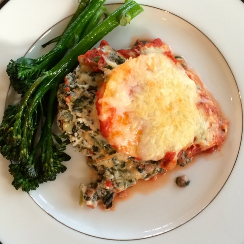 recipe for polenta lasagna - photo credit - Karen Anderson @savouritall blog