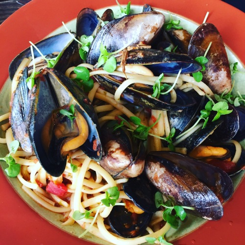 Cibo Calgary seafood linguini photo for #eatalberta150 - photo by Karen Anderson of Savour It All blog