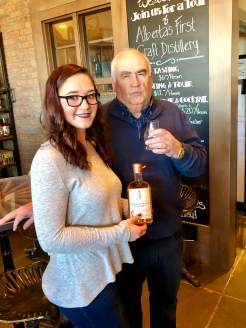 Caitlyn Quinn and Larry Kerwin - master distillers at Eau Claire Distillery