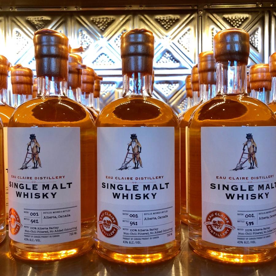 Eau Claire Distillery single malt whisky