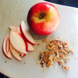 Apple stuffed buckwheat crepes