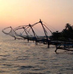 Chinese fishing nets in Kochi, Kerala, India