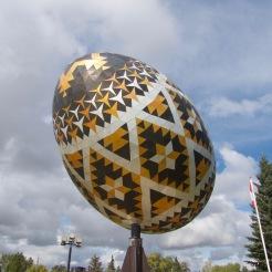 World's Largest Pysanka (decorated easter egg) in Vegreville, Alberta