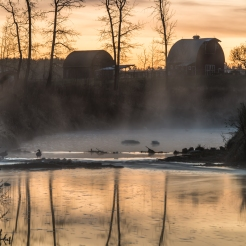 Frosty morning in Rimbey Alberta