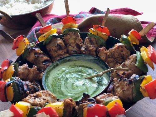 Butter chicken kebab platter