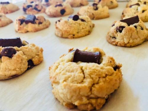 pan of cookies