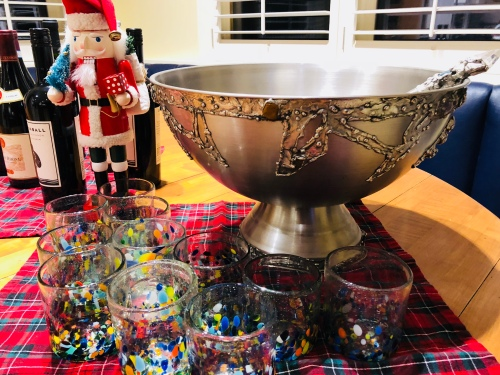 Christmas punch bowl