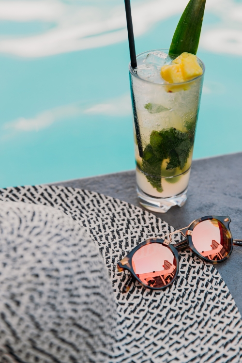 ice cold drink at Poolside by Hotel Arts