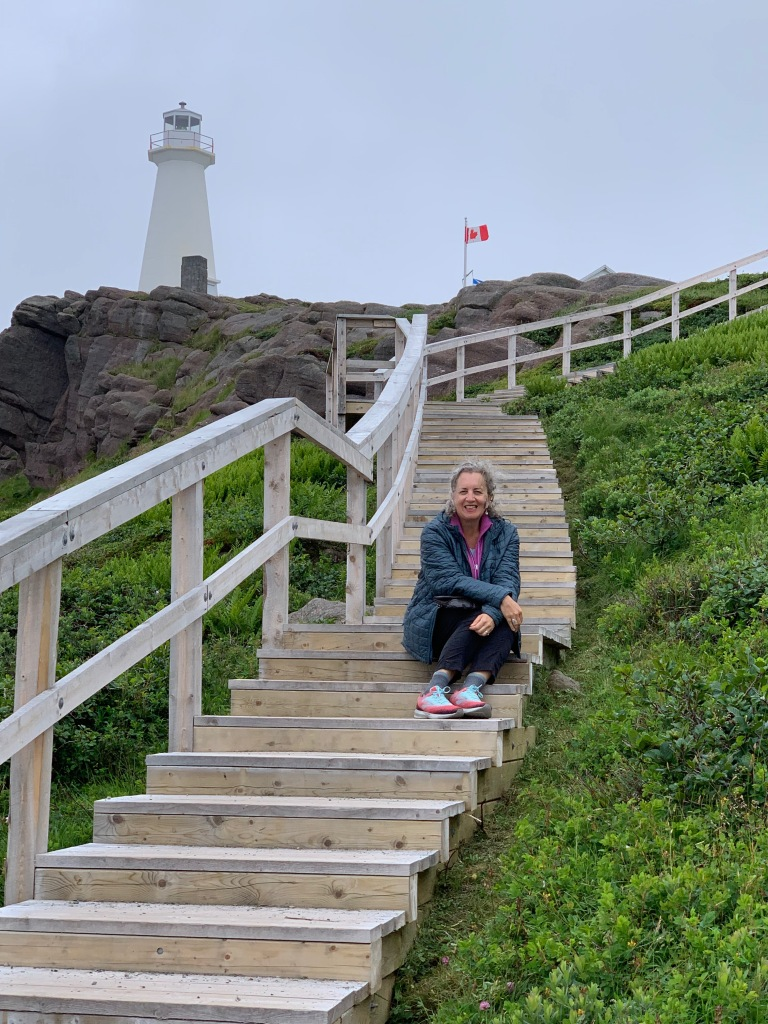 Karen Anderson at Cape Spear Lighthouse, NL