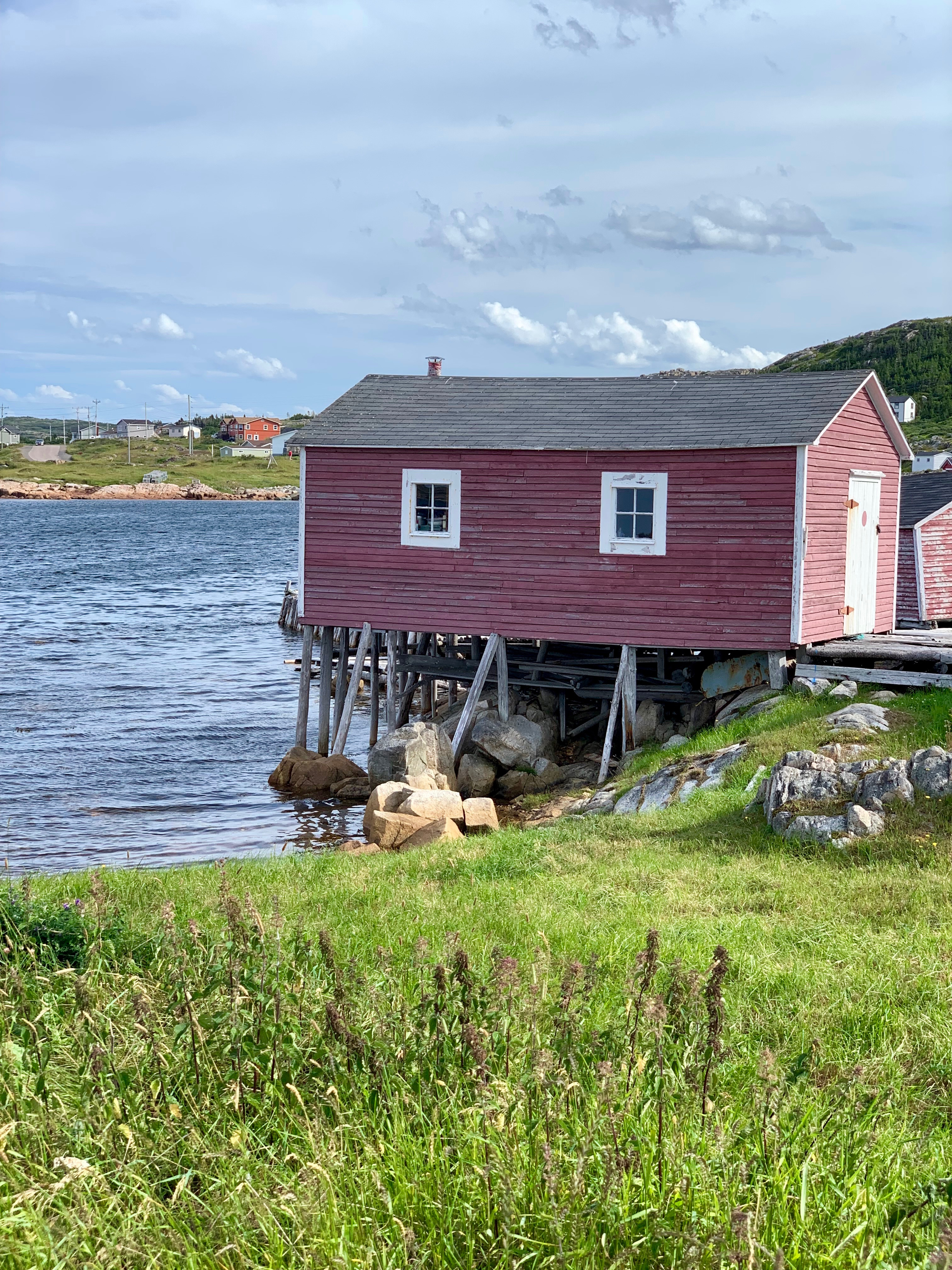 Faded Red Shed Fogo Island - photo by Karen Anderson