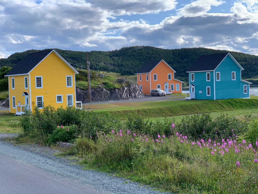 Brightly painted Newfoundland and Labrador homes