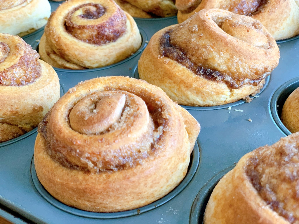 Hermione Sweet Sourdough Cinnamon Rolls fresh from the oven